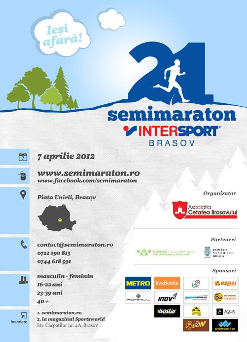 Poster Semimaraton Intersport Brasov