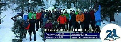 Alergare de grup cu Adi Iordache